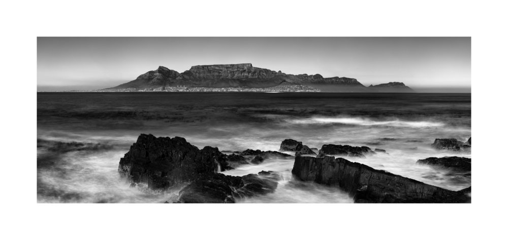 Cape Town and Table Mountain as seen from Robben Island