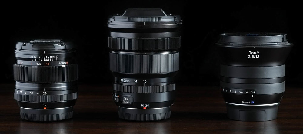 FUJI'S 14MM f/2.8 10-24MM f/4 ZOOM, AND THE ZEISS TOUIT 12MM f/2.8