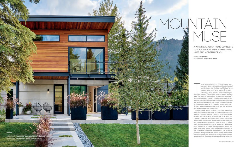 A recent project was featured on the cover of Luxe magazine. Click the image to view the article, or  click here for all project photos .