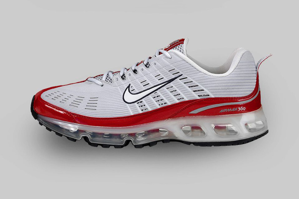 AIR MAX 360 (2006) The AM 360 realized Nike's initial vision of running completely on Air with athermoformed Air unit and laser-cut upper