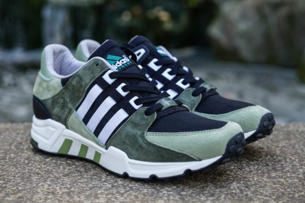 A Better Look At The adidas EQT Running Support 93 Olive Snakeskin