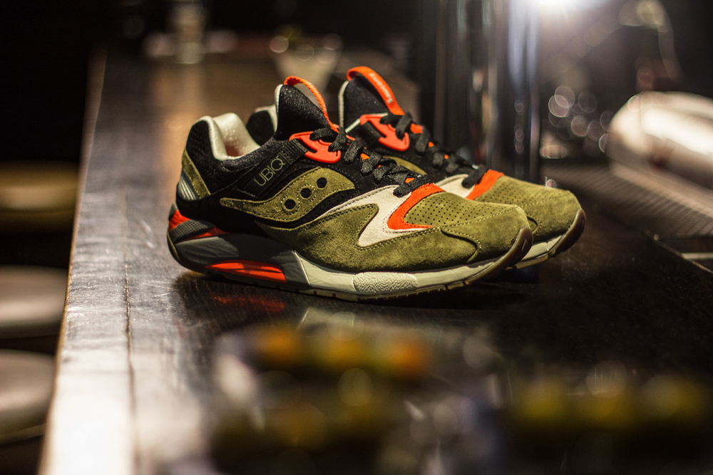 "UBIQ x Saucony Grid 9000 ""Dirty Martini""."