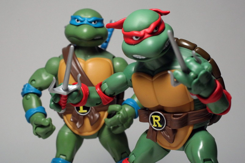Recent retro pickup: the new updated and up-scaled TMNT figures.