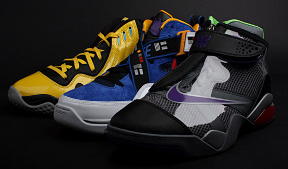 Left to right: Zoom FP Bumblebee, Sharkalaid Supreme Soundwave, Zoom Flight Club Megatron.