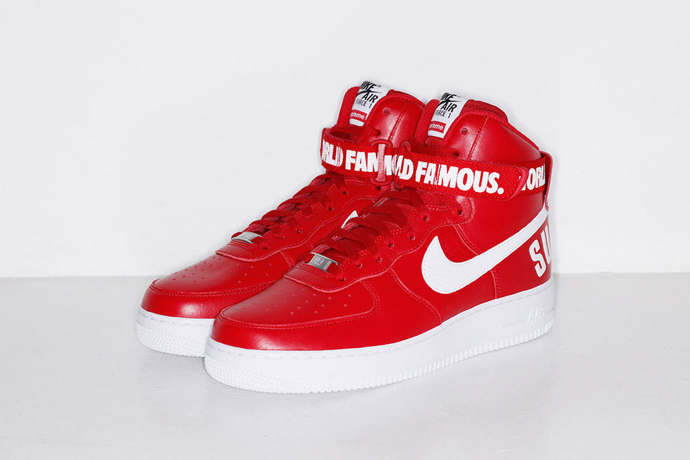 "Supreme x Nike Air Force 1 ""Red"""
