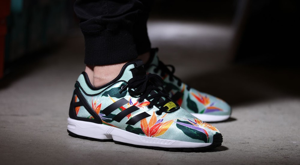 Adidas Zx Flux Floral On Feet