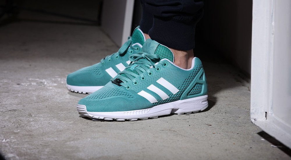 Adidas Zx Flux Ocean On Feet