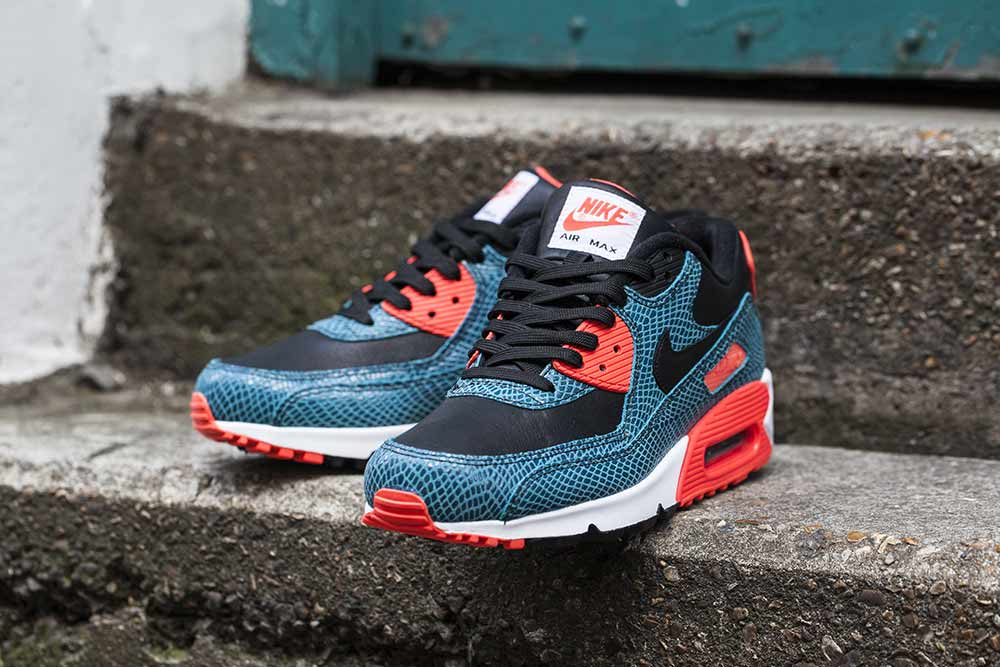 The Nike Air Max 90 25th Anniversary Black Infrared   Dusty Cactus is  available now at selected retailers such as Footpatrol. 877bd8fee