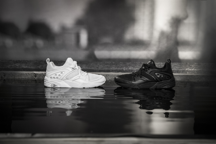 92bea7d6f64ec One shoe is a tonal black air flow mesh with leather panels while the other  is an immaculate tonal white. Available now at selected retailers such as  hanon.
