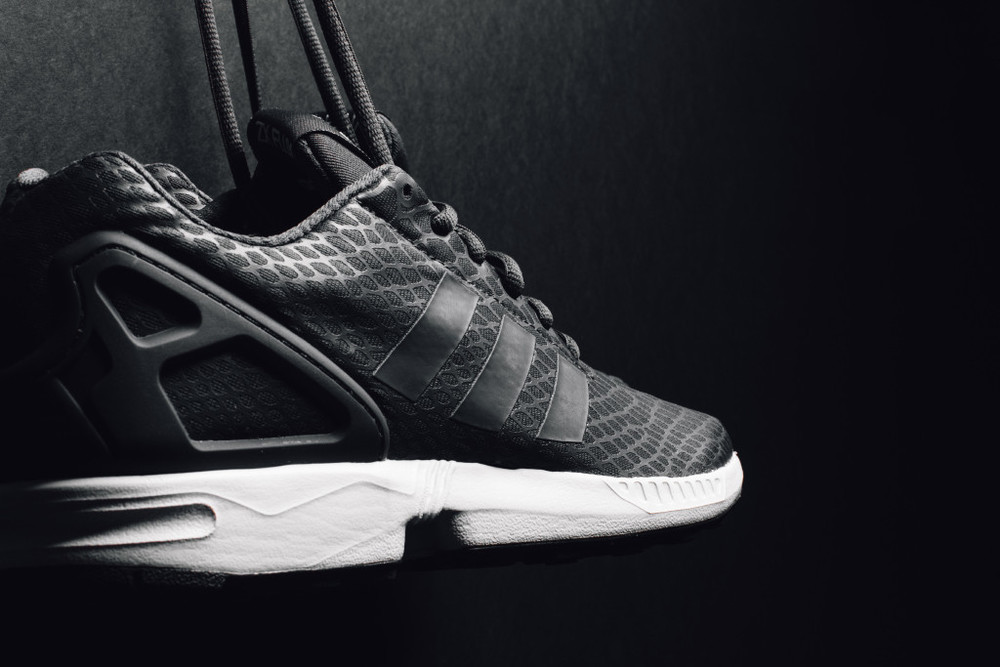 "the best attitude 483c4 5ab00 Adidas originals ZX Flux Techfit ""Shadow Black""."