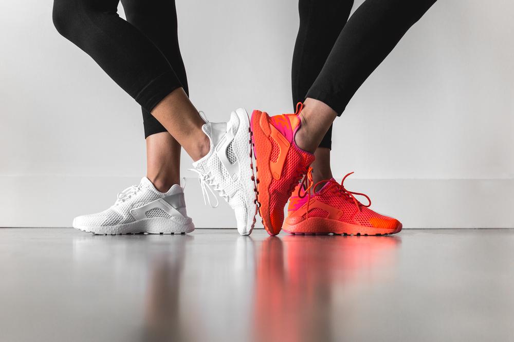 """Nike Women Air Huarache Run Ultra BR """"White""""   """"Total Crimson"""". fbfbd51fc0145"""