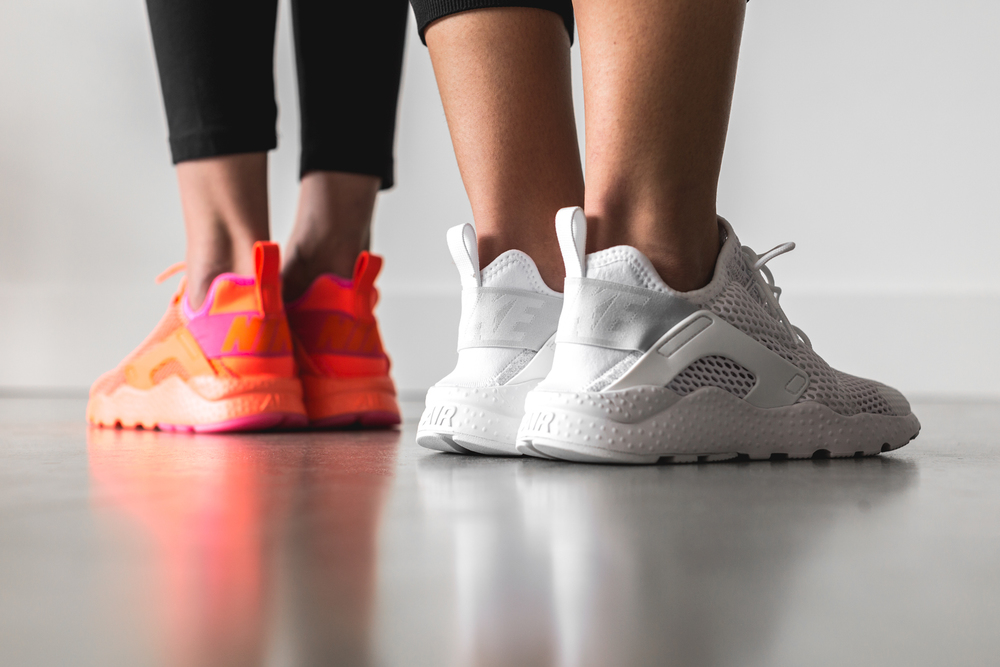 designer fashion c5e37 a6b47 Both sneakers come in a single tone, with extra color detail coming in pink  on the sock liner for the total crimson. Available now at selected  retailers ...