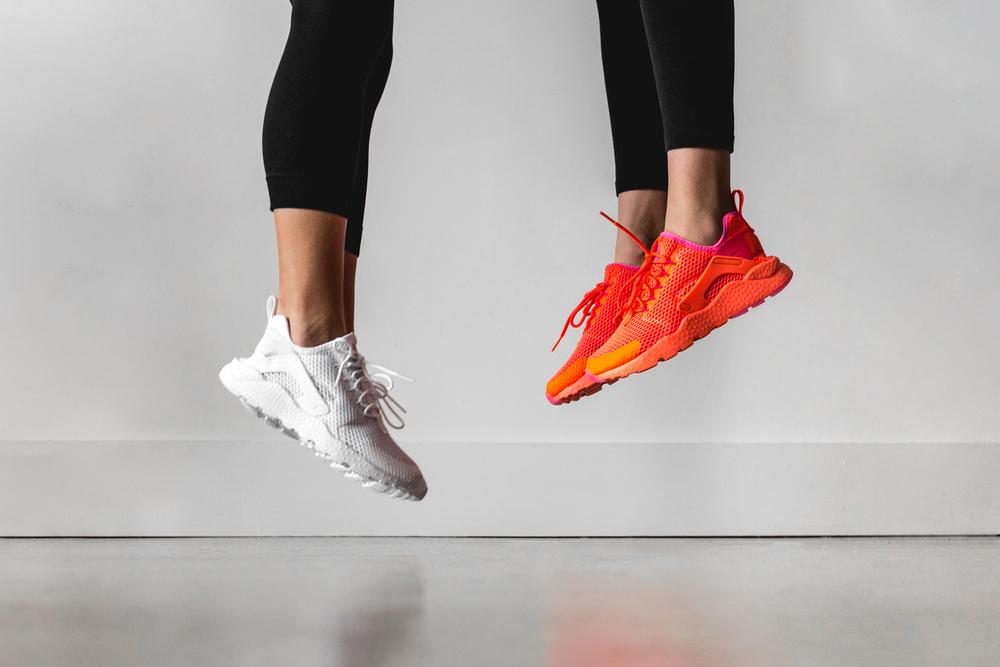 """5d92d4cd521b Nike Women Air Huarache Run Ultra BR """"White""""   """"Total Crimson ..."""