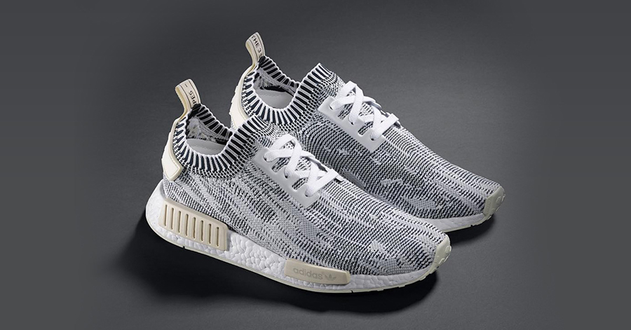 """1af5b0f1e16b9 The Adidas Originals NMD R1 Primeknit """"Camo"""" Pack is dropping April 9 at  selected retailers such as 24 Kilates."""