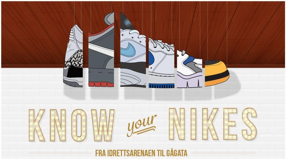 newest 500ff fea8c ... Nike-modellene, fra starten på 70-tallet og frem til i dag. Guiden er  interaktiv, så klikke deg inn og lese mer om modellen du er interessert i.