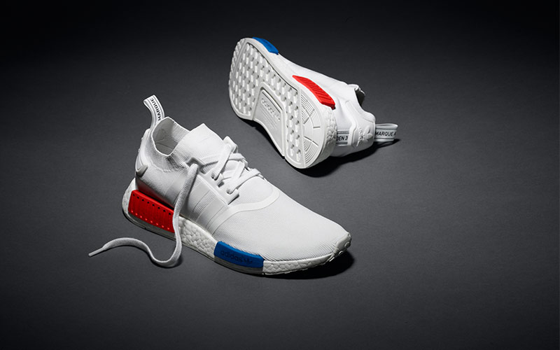 Offer special of Cheap Adidas NMD R1 Blue Mens Shoes Running Cross