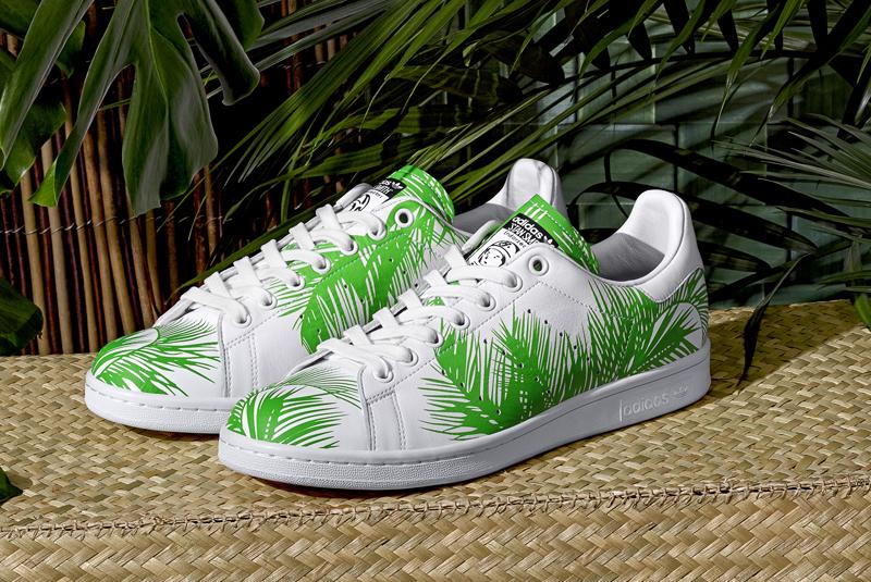 "e457fbd978549 Pharrell Williams x BBC x Adidas Stan Smith ""Palm Tree""pack"
