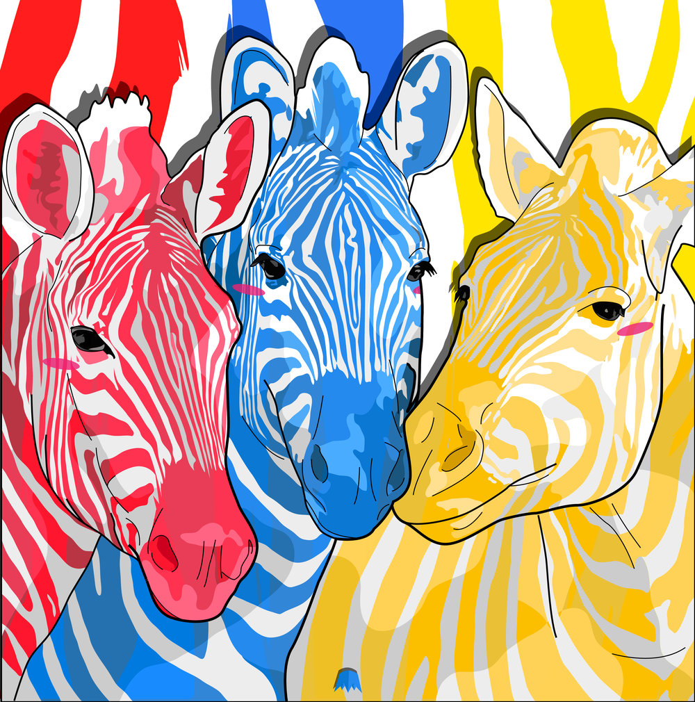 """Zebra Untitled""  24x24in"