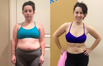 "Nikki: Lost 16 lbs of fat! Gained 7 lbs of lean mass!  Decreased body fat by 9 percent!    ""Small tweaks to my diet and exercise yielded fast results. I dropped body fat, slept the best I had in years, and had more energy and a better mood! They teach you new habits in a way that makes it easy to be consistent... Helen and Jay are constantly re-training themselves and learning from experts in multiple fields so you know that you can trust the information they are giving you."""