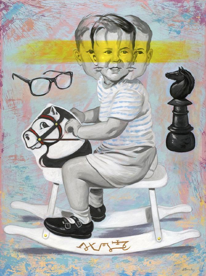 Michael    Acrylic on wood | selected American Illustration 32