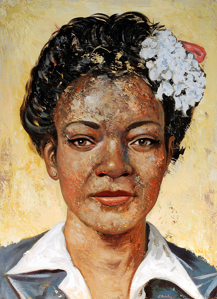 Ruth  | acrylic on wood | selected 3x3 annual #10