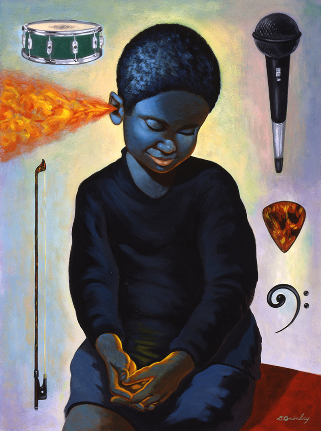 The Blues Boy   Acrylic on wood   Selected American Illustration 22