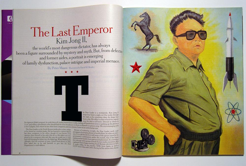 The Last Emperor Kim Jong-Il  | The New York Times magazine cover and spread | AI 23, CA 45, SI 47