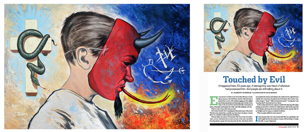 Touched by Evil   | St. Louis magazine     Painting @2014 David M. Brinley