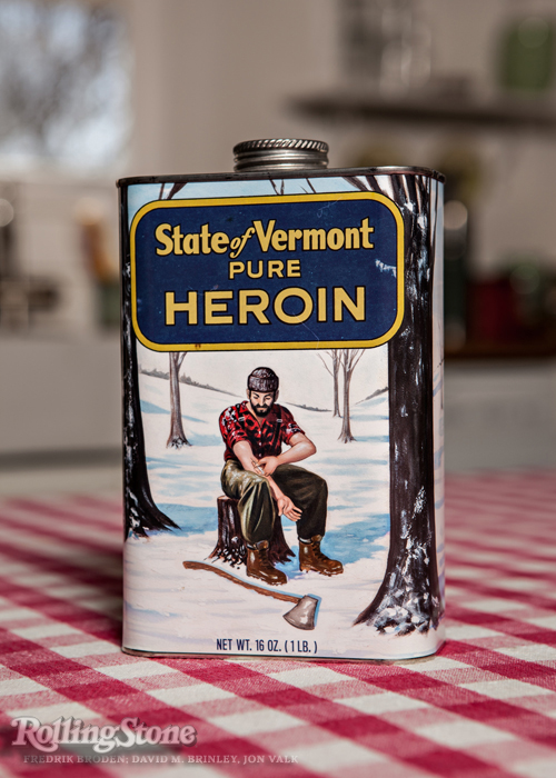 The New Face of Heroin   | Rolling Stone magazine #1206 April 10, 2014   Photo: Fredrik Broden   Painting: David M. Brinley    Lettering: Jon Valk