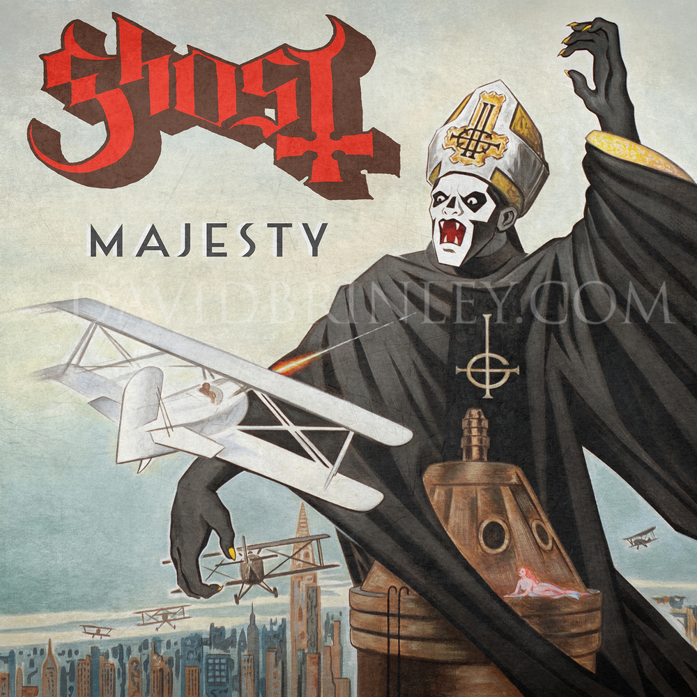 GHOST |Majesty   Acrylic on paper and digital  Official single cover  Loma Vista Recordings