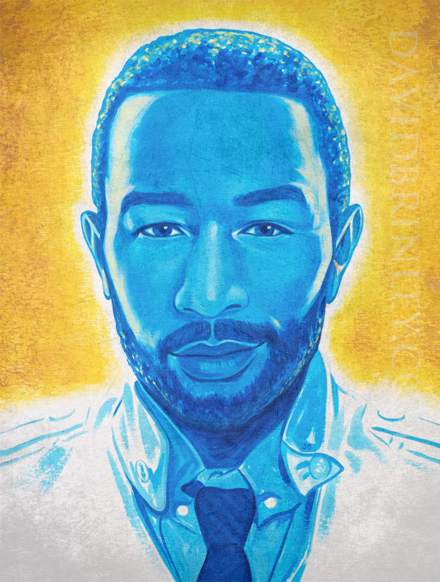 """Glory"" |John Legend portrait celebrating his Oscar, Golden Globe, and Grammy awards for Best Original Song"