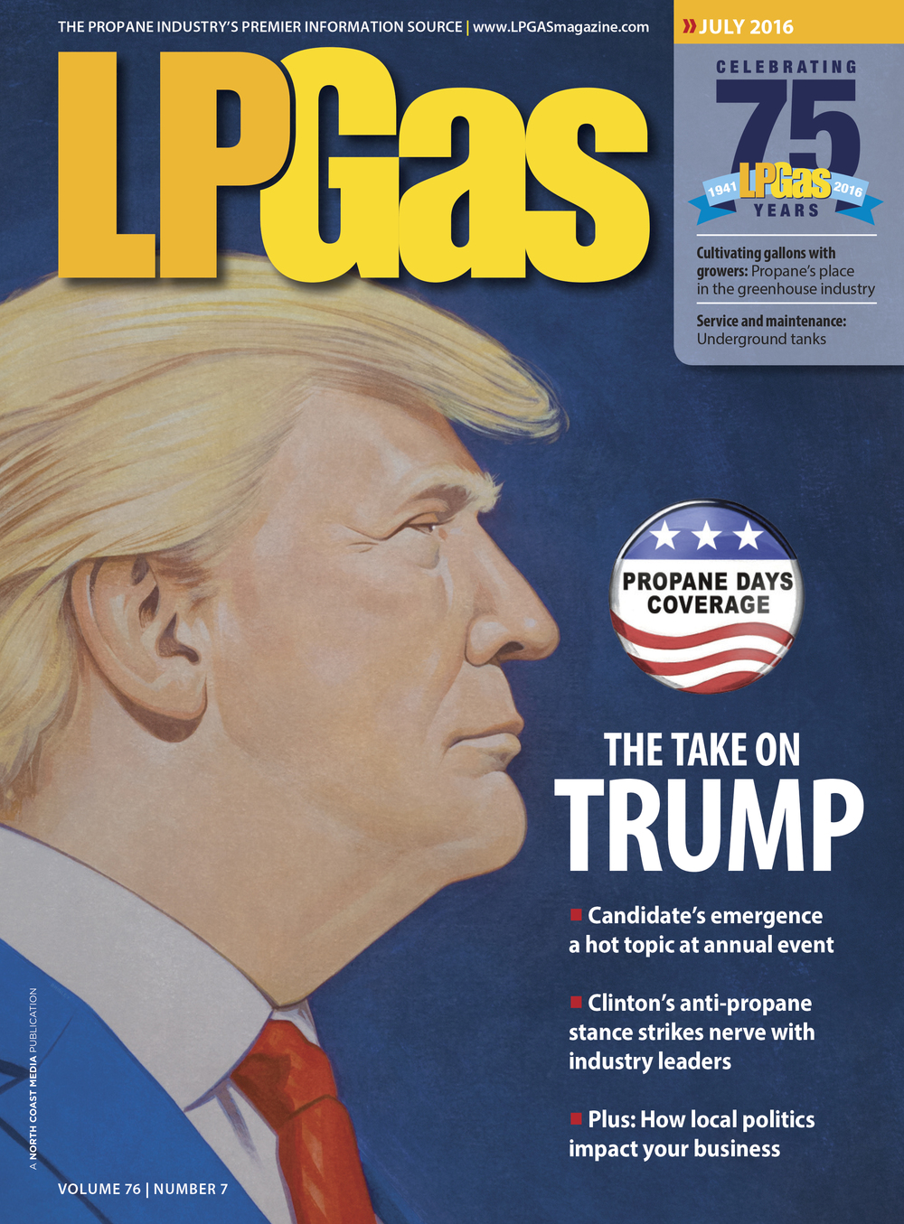 Donald Trump: The Nontraditional Candidate   | LPGas magazine July 2016 | What If? cover illustration
