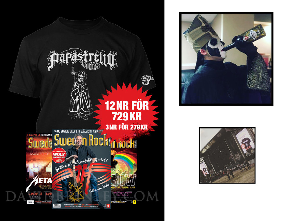 GHOST | Papastrello T-shirt   Official Papastrello hand lettered logotype, illustration, and design  Brands For Fans (Sweden) | Sweden Rock magazine