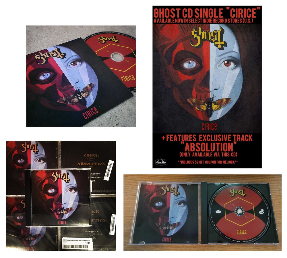 GHOST | Cirice   Acrylic on paper and digital  Official CD single cover | fan photos  Loma Vista Recordings  2016 58th Annual GRAMMYs award winner:'Best Metal Performance'