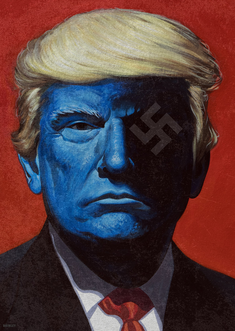 Donald J. Trump  illustration portrait | 2017