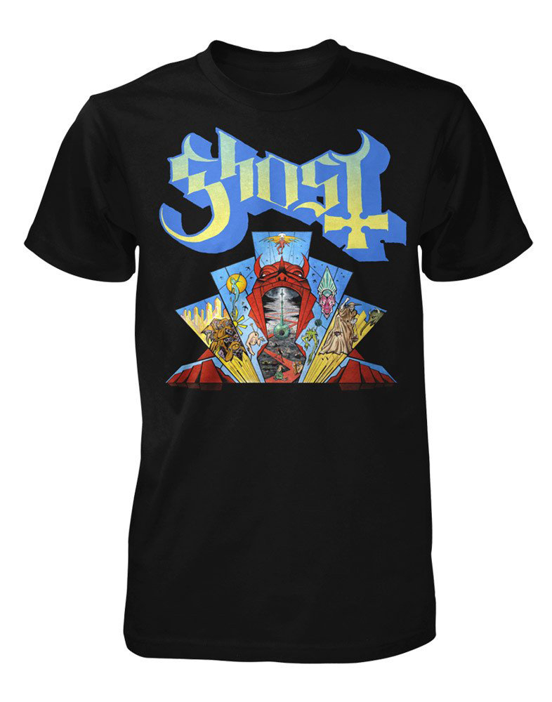 GHOST |Official 'Devil Window' Gate of Hell t-shirt 2017    Acrylic on paper and digital