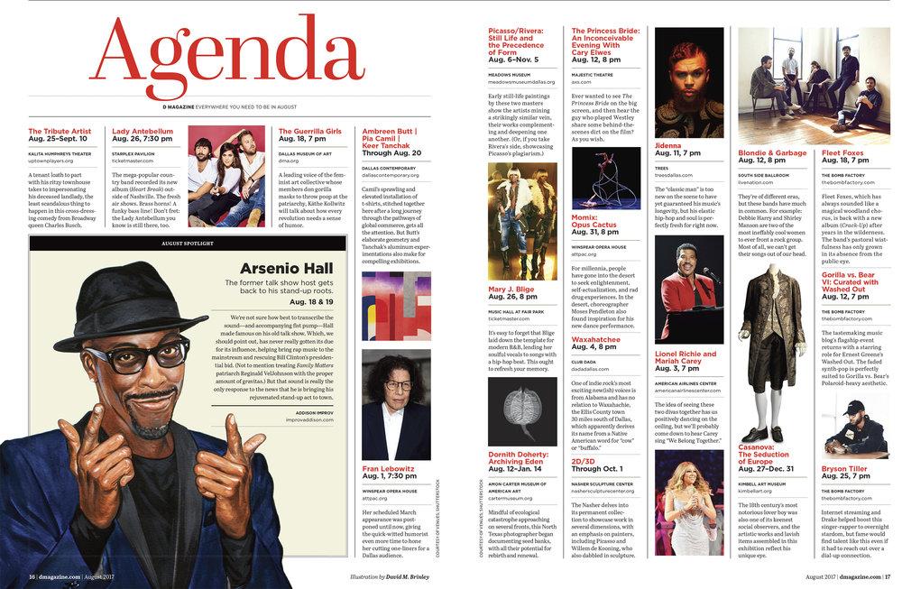 Arsenio Hall  | D Magazine (Dallas) | AGENDA events calendar | August, 2017