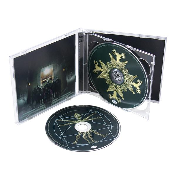 GHOST |Official Popestar CD label illustration | 2016    Meliora + Popestar deluxe CD set    Acrylic on paper and digital