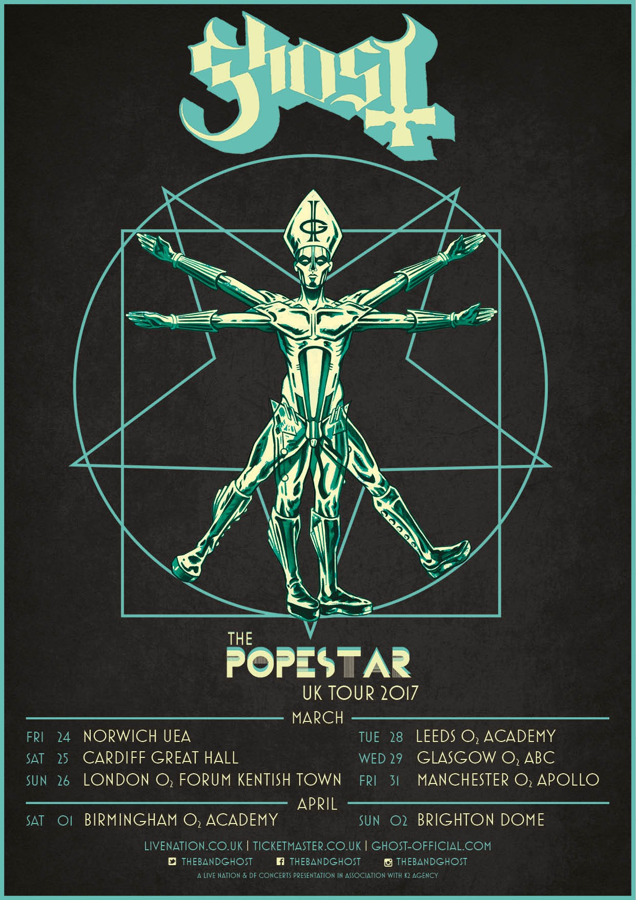 Welcome to david m brinley illustration artist painter designer ghost the popestar european tour 2017 official popestar tour poster web kristyandbryce Images