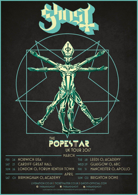 GHOST     The Popestar European Tour 2017   Official Popestar Tour Poster  web admat