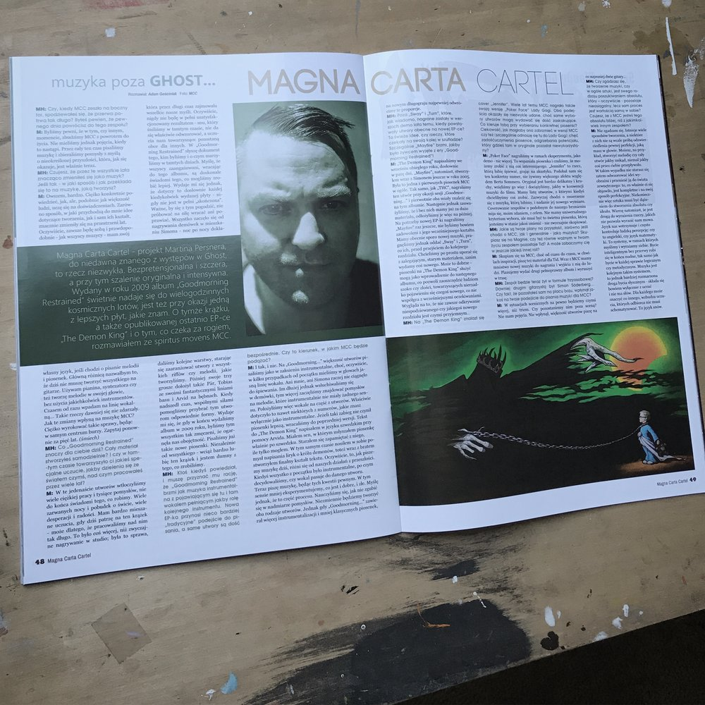 Metal Hammer Poland magazine | Martin Persner interview and Magna Carta Cartel The Demon King EP review | July 2017