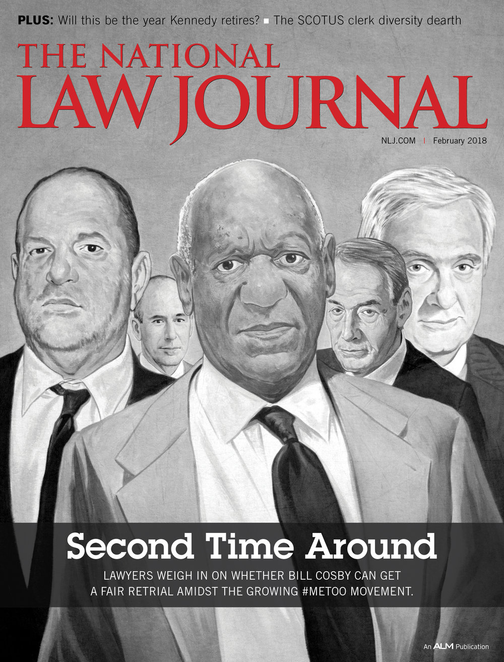 Second Time Around #timesup  | The National Law Journal cover illustration | February 2017