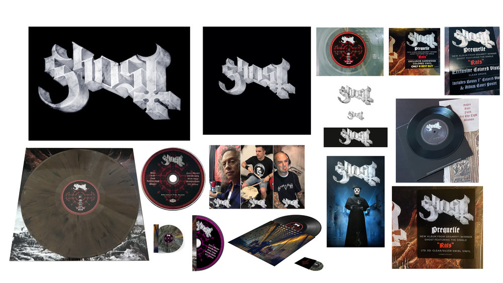 GHOST | marble logo 2018   LP, CD, and 7"