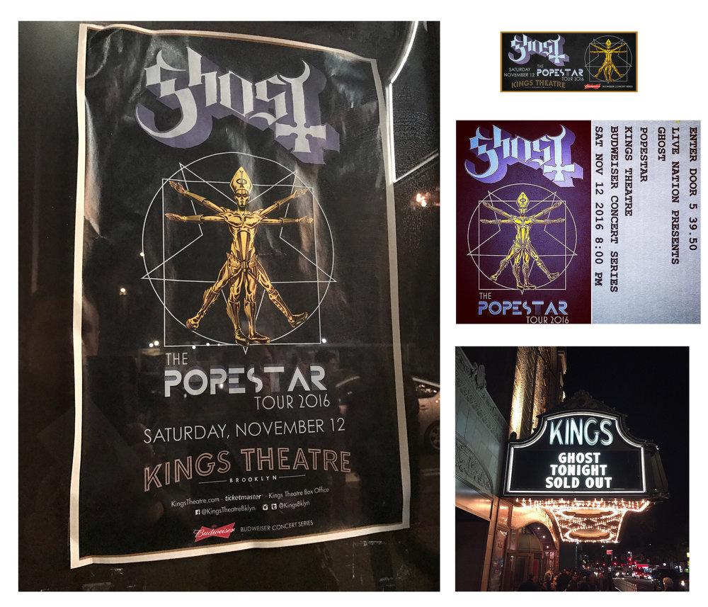 GHOST Popestar Tour Brooklyn 2016