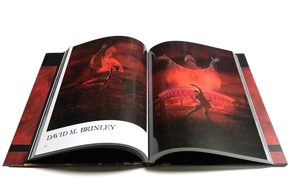 ARTE ARCANA | featuring David M. Brinley illustration  | 79 artists| 300 Limited Editions | August 2018 | Heavy Music Artwork Press