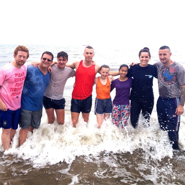 Baptism in the North Sea