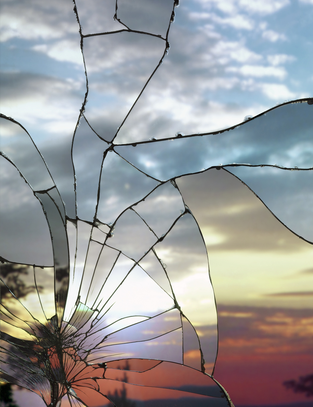Broken Mirror/Evening Sky (Fuji Velvia), 2012, Archival Inkjet Print, 70-3/4 x 56-5/8 inches