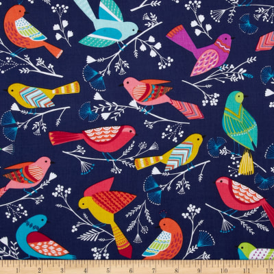 Flock Birds Navy