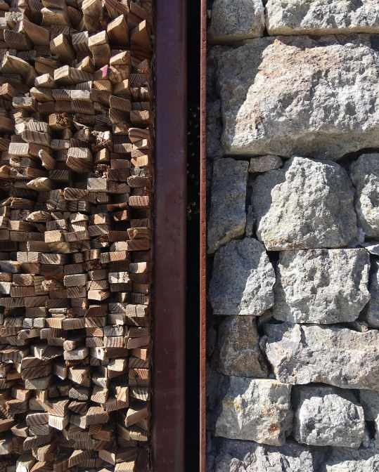 Oh how I love the textures of  #valledeguadalupe ...  #textures   #texture   #Mexico   #Baja   #design   #architecture   #closdetrescantos   #stones   #steel   #wood
