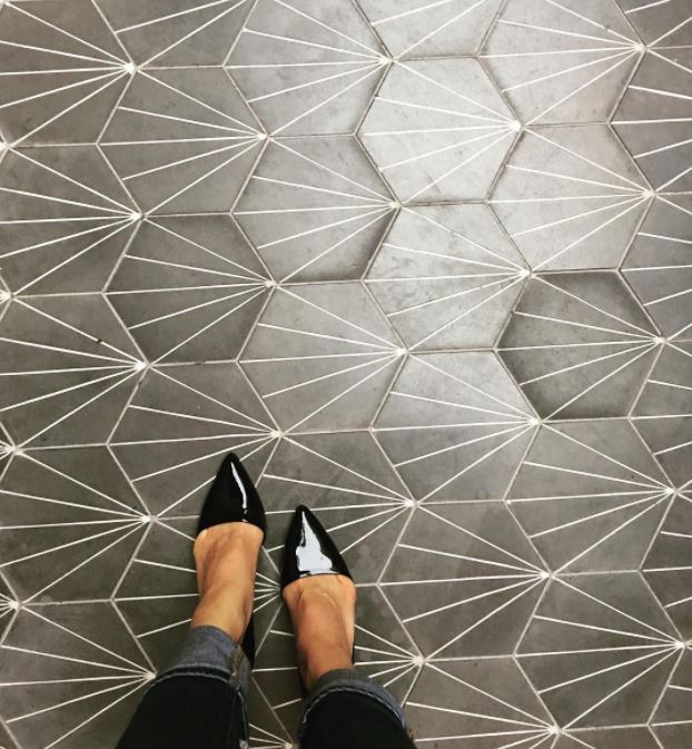 Pretty pattern... #tile   #hexagon   #hexagontile   #moderntile   #design   #moderndesign   #pattern   #shape   #blackandwhitetile   #blackandwhite